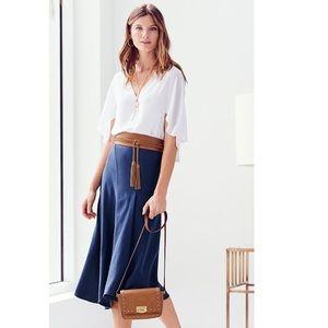 White House Black Market Asymmetrical linen skirt